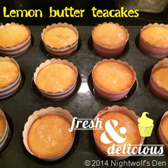 Lemon Butter Teacakes - Thermomix conversion