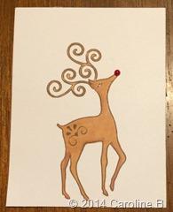 Reindeer 3x4 card