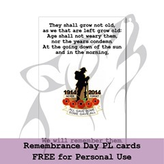 Remembrance Day Cards 2014