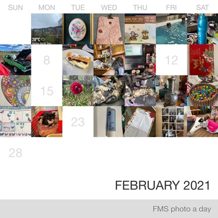 Collage of photo from the Fat Mum Slim photo a day challenge in February 2021